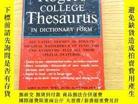 二手書博民逛書店Roget s罕見COLLEGE Thesaurus IN DICTIONARY FORM【英文原版】32開【外文