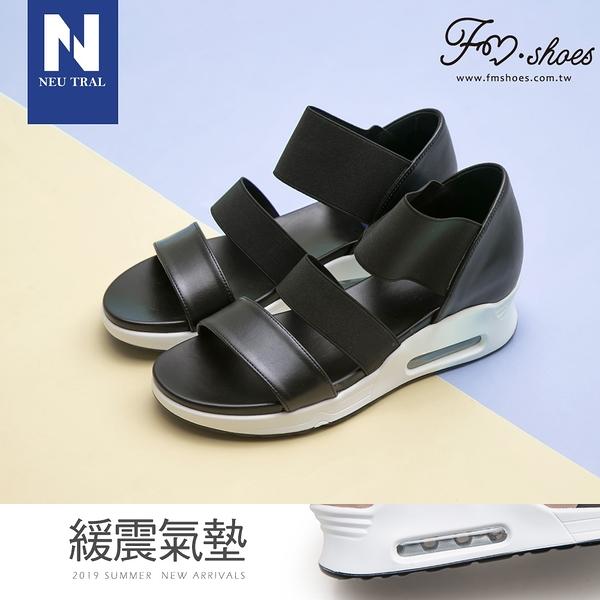 涼鞋.彈性織帶氣墊涼鞋(黑)-FM時尚美鞋-NeuTral.Sandals