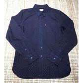 長袖襯衫 男裝 / 單口袋 / 深藍紅點點 - Levis