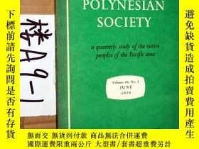 二手書博民逛書店THE罕見JOURNAL OF THE POLYNESIAN SOCIETY..1959年6月Y3699 TH