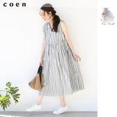 連身長裙 長洋裝 條紋【coen】