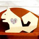 【全館5折】WaBao ZAKKA雜貨 韓國正品動物造型+愛心形水晶家居擺飾 (松鼠) =K00008=