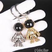 太空機器人鑰匙扣宇航員掛件男士汽車鑰匙鏈女生包包掛飾     color shop