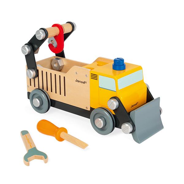 【法國Janod】小木匠創意玩-工程卡車