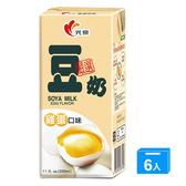 光泉雞蛋豆奶330ml x6【愛買】