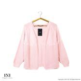 【INI】柔感舒適、好感美型開襟針織外套.粉色
