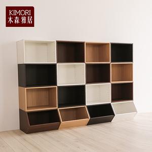 【木森雅居】KIMORI S-Cabinet可堆疊收納櫃淺胡桃木色款