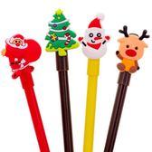 【BlueCat】聖誕節平面打招呼麋鹿手套雪人中性筆 水性筆