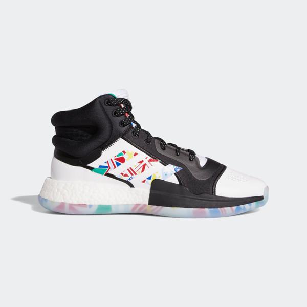 Adidas Marquee Boost FIBA [EG1538] 男鞋 籃球 運動 透氣 舒適 緩震 愛迪達 白黑