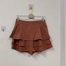韓版防走光短褲裙荷葉邊半身裙A字蛋糕褲裙(XL號/777-6145)