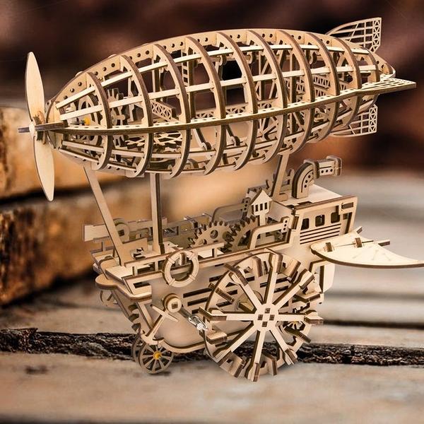 DIY木製自走模型-飛船Air Vehicle 齊柏林飛船