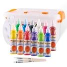 繪摩兒童顏料安全可水洗幼兒寶寶畫畫涂鴉繪畫水粉手指畫水彩 【快速出貨】