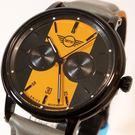 【萬年鐘錶】MINI Cooper Swiss Watches 簡約風腕錶- 黑x黃    42mm  MINI-160642