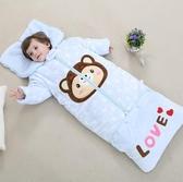 嬰兒睡袋秋冬加厚2純棉1-9歲寶寶3男女童加長保暖拆袖防踢被神器  布衣潮人