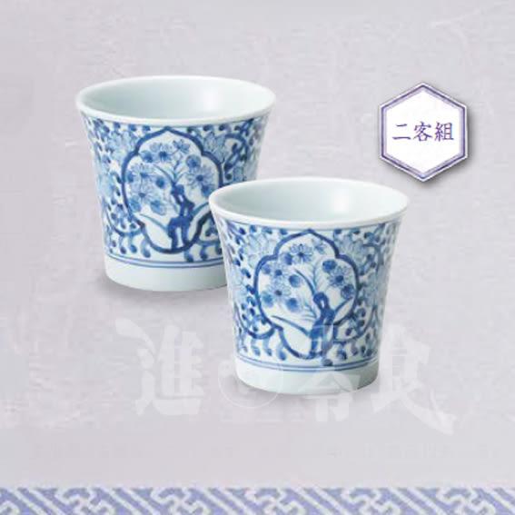 日本進口Ⓙ日本國產 百年傳承技法有田燒 中島誠之助 茶杯(2入)