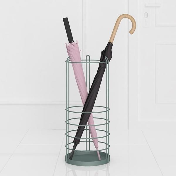 ELF生活志鐵藝雨傘架時尚簡約創意雨傘桶大堂家用落地掛傘架 米娜小鋪