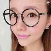 大圓框眼鏡 10129【櫻桃飾品】【10129】