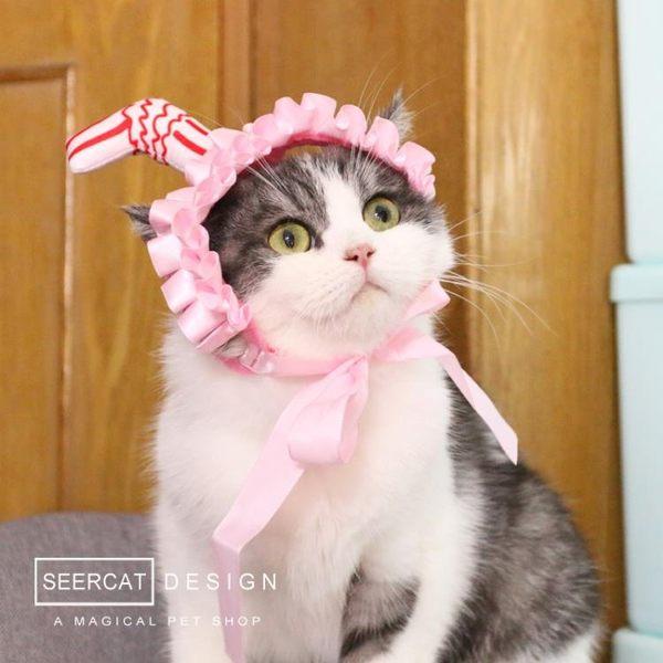 貓頭飾小色貓 吸貓頭套 搞怪寵物貓咪狗狗變裝頭飾可愛搞笑帽子吸貓髮箍【快速出貨】