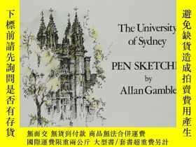 二手書博民逛書店The罕見univetsity of sydney pen sketches by Allan Gamble 鋼筆
