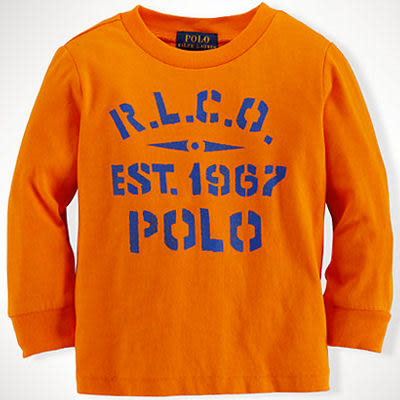 POLO Ralph Lauren 長袖上衣 橘色 18M