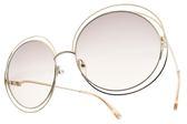Chloe 太陽眼鏡 CL114SD 724 (金) 全球熱銷廣告款 金屬大圓框 墨鏡 # 金橘眼鏡