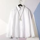 秋季白色襯衫男女長袖新款文藝學生襯衣寬鬆百搭打底衫上衣潮   夏季狂歡