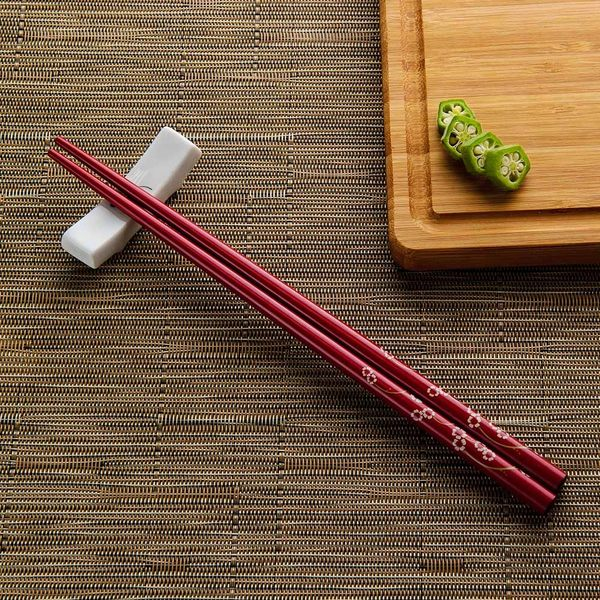 緋紅花蔓木筷-生活工場