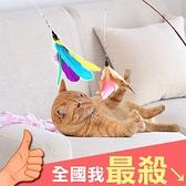 逗貓杆 逗貓棒 逗貓玩具 逗貓桿 替換頭 寵物用品 寵物玩具 逗貓棒替換頭【S006】米菈生活館