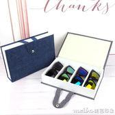 便攜式書形4位眼鏡收納盒 4格時尚旅行墨鏡太陽鏡眼鏡展示收藏盒 美芭
