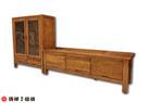 【清祥傢俱】K-501 非洲柚木L型電視櫃 實木L櫃 TV櫃展示櫃 收納櫃 儲物櫃(現貨)