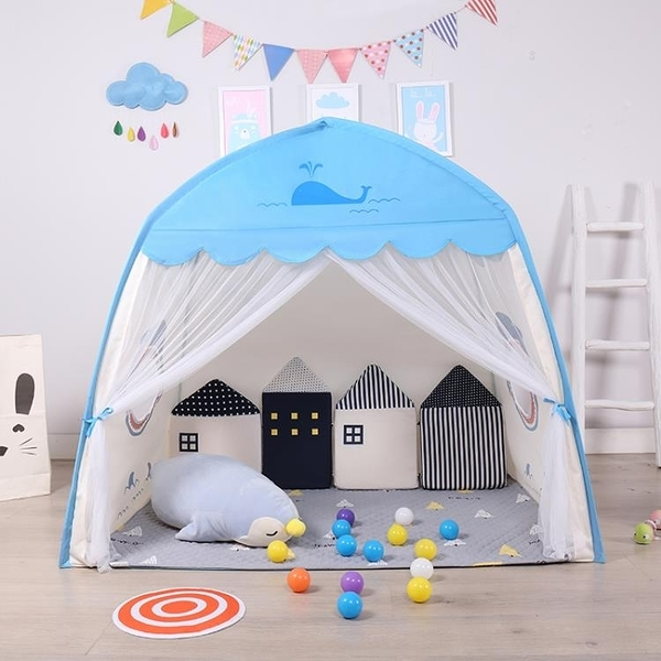 遊戲帳棚 遊戲帳棚 室內 男孩帳篷床寶寶睡覺小房子城堡家用游戲玩具屋【全館免運】