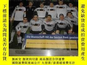 二手書博民逛書店罕見原版2008歐洲盃德國國家隊超大海報Y178961 德國 德