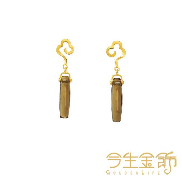 今生金飾   雲浪耳環  時尚黃金耳環