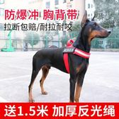 狗狗牽引繩金毛胸背帶遛狗繩子狗鍊子中大型犬防爆沖背帶寵物用品