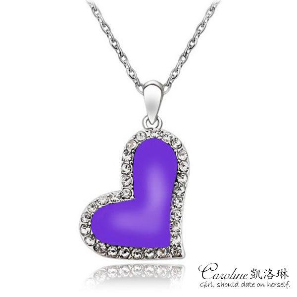 《Caroline》★【把心給妳】浪漫風格,優雅性感水晶時尚項鍊66161
