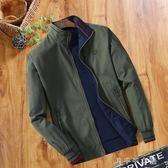 中年男士夾克季立領純棉夾克衫爸爸裝雙面穿休閒男裝薄款外套 千千女鞋