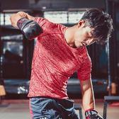 健身緊身衣-彈力速乾緊身訓練男短袖運動服3色73np1[時尚巴黎]