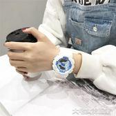 手錶女學生韓版簡約潮流ulzzang休閒大氣chic運動電子錶   大宅女韓國館
