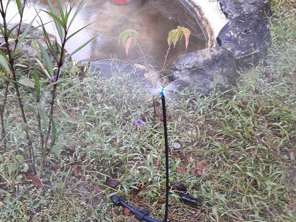 2分微霧噴頭與50公分腳架噴霧角度270度5支一包