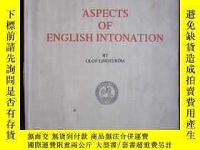 二手書博民逛書店Aspects罕見of English intonation(G