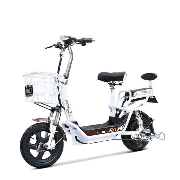 電動腳踏車48V成人男女性踏板電動車代步助力腳踏車 亞斯藍