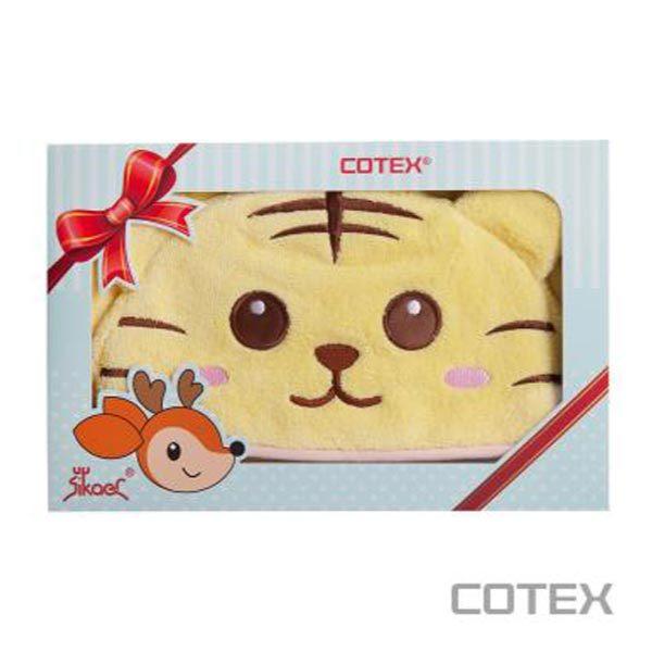 【贈小熊手搖鈴+提袋】COTEX 泰可虎浴袍巾/浴巾禮盒