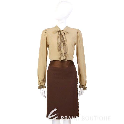 Lorella Braglia 咖啡色豹紋飾邊及膝裙 0510662-07