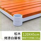 收納架/置物架/層架【配件類】120x45cm 松木烤漆白層板  dayneeds