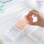 ◄ 生活家精品 ►【P276】無印風格系列-透明化妝品收納盒 壓克力 桌面 收納 整理盒 首飾 棉花棒