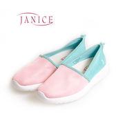 JANICE-基本款混搭平底懶人鞋652051-08(粉紅)