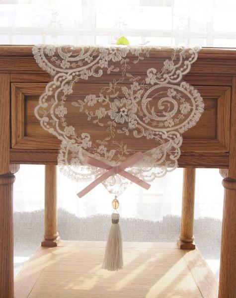 時尚可愛空間餐桌布 茶几布 隔熱墊 鍋墊 杯墊 餐桌巾桌旗574 (寬27*長50cm)