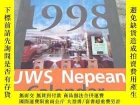 二手書博民逛書店UWS罕見Nepean Calendar 1998(尼泊爾歷)平