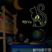 夜光貼 宿舍寢室墻面布置夜光貼紙熒光貼可移除兒童房間床頭裝飾自粘貼畫 京都3C