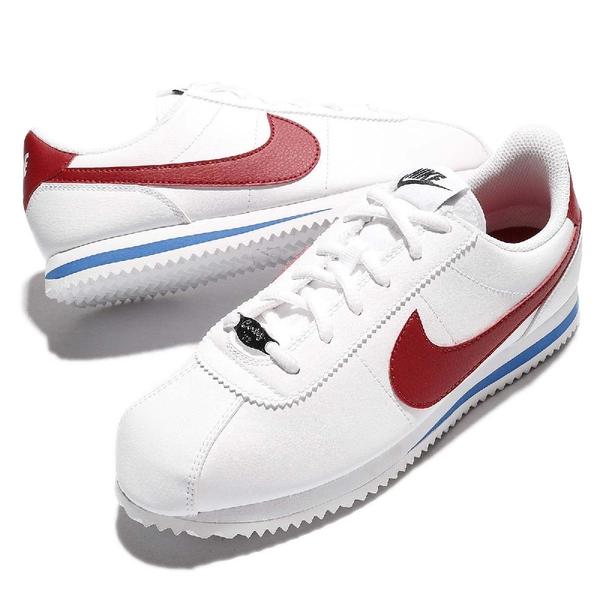 Nike 阿甘鞋 Cortez Basic SL GS 白 藍 紅 皮革 原版配色 小白鞋 女鞋 大童鞋【ACS】 904764-103